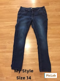 Size 14 my style blue jeans