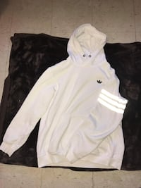 white and pink Nike zip-up hoodie