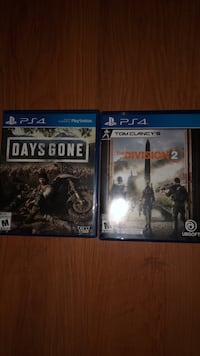 Selling The Division 2 and Days gone Vaughan, L6A 3N9