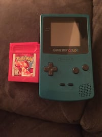 Blue nintendo game boy color with game  Washington, 20024