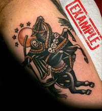 Horseman of Death Tattoo Tampa, 33614