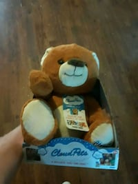 brown and white bear plush toy Wylie, 75098