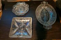 two clear cut glass bowls Bakersfield, 93306