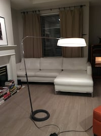 Modern lamp with cement-like ring base Vancouver, V5W 4B7