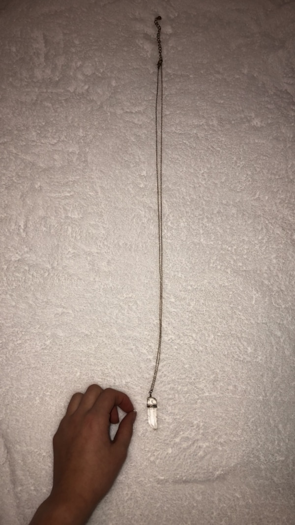 long crystal pendant necklace
