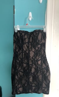 Mini Black Lace Dress