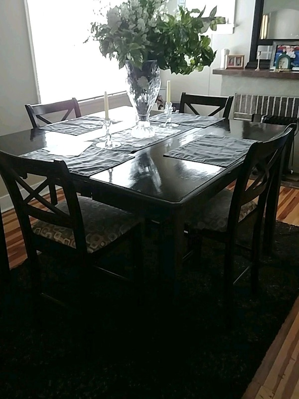 4 seater dining room table set and it's high