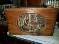 Wooden  box deer picture  on