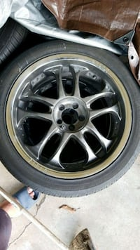 Four 18 inch rims (5 lugs)   with 3 tires Keaau, 96749