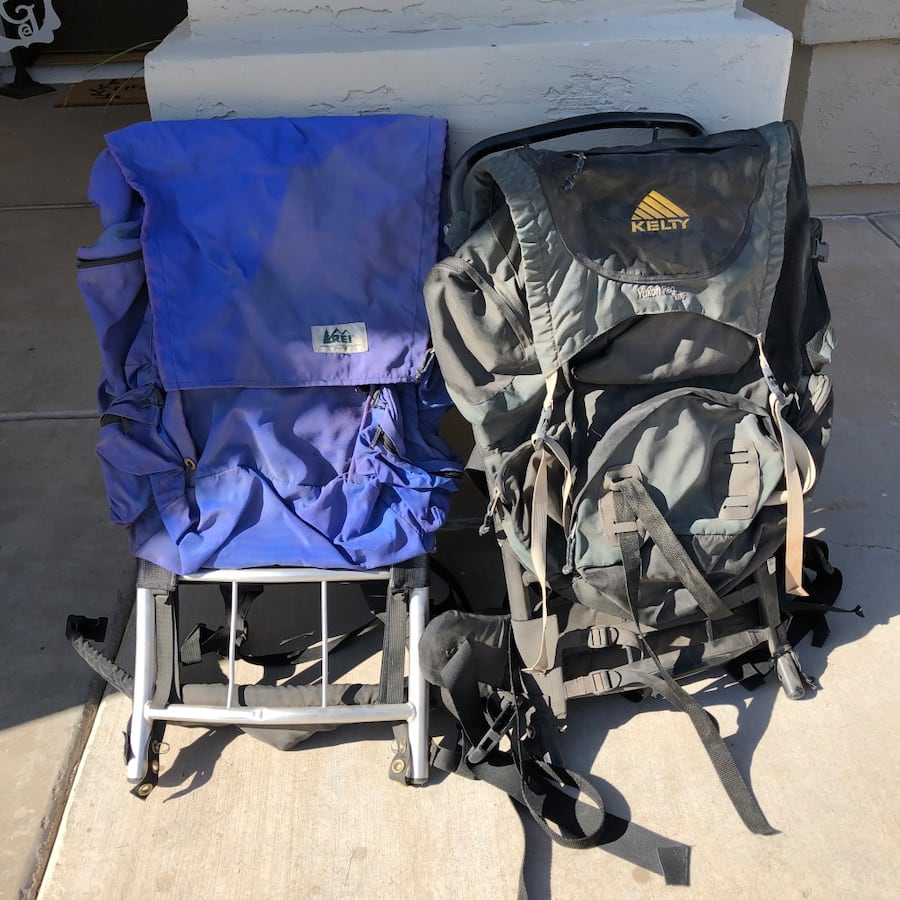 Backpack, REI & Kelty with frame