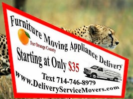 Furniture Moving Appliance Delivery card