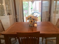 Brown wooden dining table set Arlington, 22203