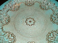 Beautiful aqua with gold etching center piece bowl/plate-platter Stockton, 95204