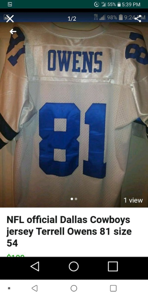 premium selection 8a47c cd1c4 NFL Dallas Cowboys Terrell Owens Jersey
