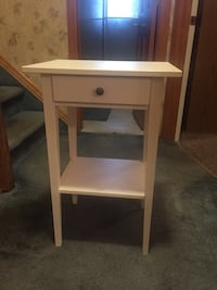 White side table with shelf & drawer Wantagh, 11793