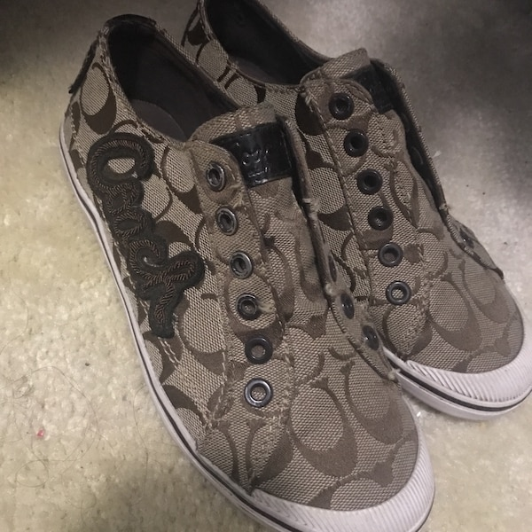 38f3d483da27 Used Brown and white Coach low tops for sale in Houston - letgo