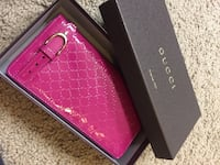 Pink gucci leather long wallet with box ??, 91708