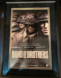 Band of Brothers signed movie poster with COA Rockville, 20852