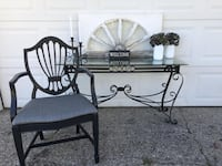 Wrought iron table with chair Jenison, 49428