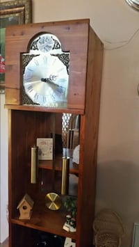 brown wooden cabinet with mirror& clock  Knoxville, 37918
