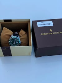 Christian Van SANT Men's CV5102LB Casual Montego Vintage Watch, Green Toronto