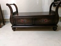 Solid Wood Bed Storage Ottoman- Moving Sale!