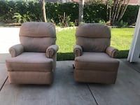 2 rv sofas recliners / and spin Fontana, 92335