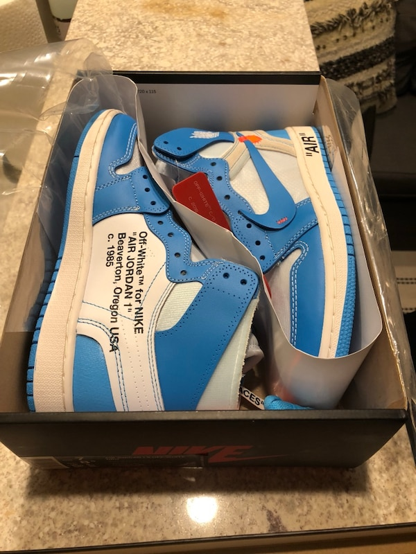 b8a806bda02cb4 Jordan 1 Retro High Off-White University Blue men s 7 usagé à vendre ...