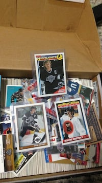 Hockey trading card collection