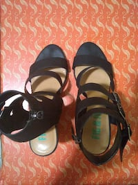 Black wedge sandals  Brooklyn