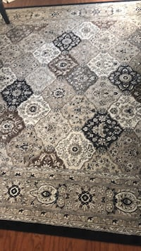 gray and black floral area rug Ashburn, 20147