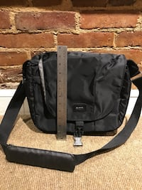 black and gray leather crossbody bag Washington, 20009