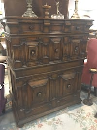 brown wooden dresser with mirror London, N6E 3H8