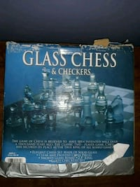 Glass chest and Checkers set 336 mi
