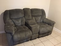 gray suede home theater sofa New Orleans, 70127