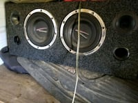 Two 8 inch subs in ported car box Grenada, 38901