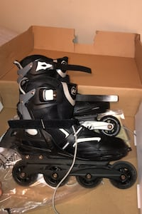 Roller blades size 10 and size 12 black and white 70 each Toronto, M6H 2N8
