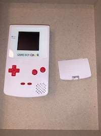 Modded Gameboy Color - White with Red Buttons