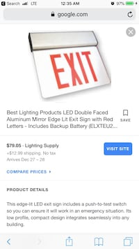 Best lighting safety exit signs Alexandria, 22314
