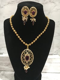 Fashion necklace and earrings set Canyon Country, 91387