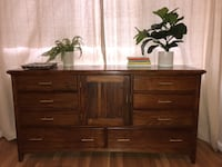 Mid century modern low boy wooden dresser Arlington, 22201