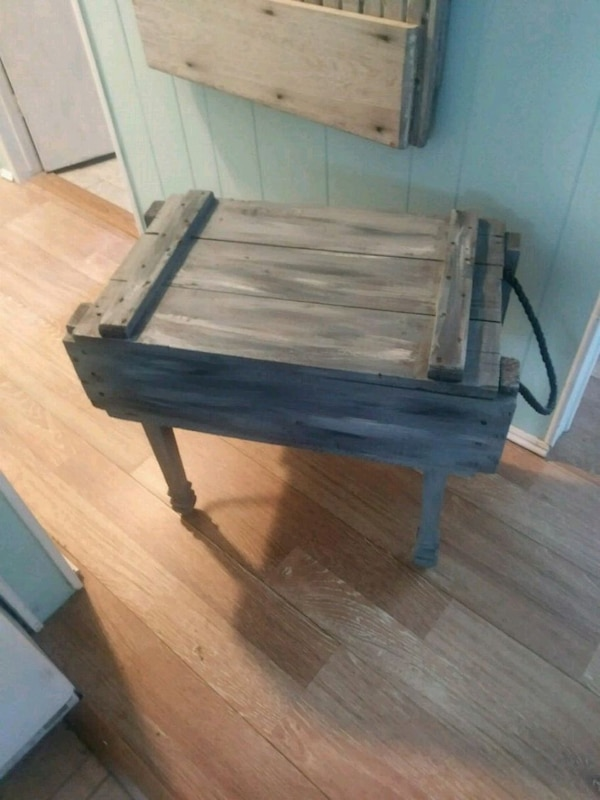 Used Rustic Crate Side Table Upcycle Old Shabby For Sale In Largo