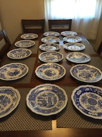 white and blue ceramic plate lot Bridgeport, 06606