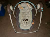 baby's gray and white portable swing Morrison, 80465
