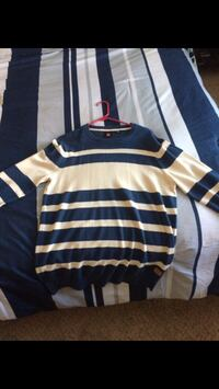 White and blue stripes sweater Moreno Valley, 92555