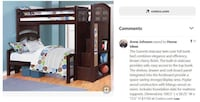 PRICE REDUCED! Twin over Full Storage Bunk Bed $495 (OBO) - $495 Frederick, 21701