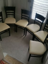 Set of 6 Leather Seat Chairs, One is a Captian Sarnia, N7T 6H3