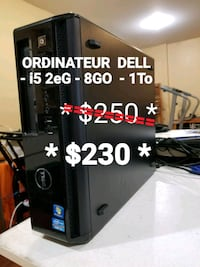 ORDINATEUR DELL i5 2eG - 8GO - 1To - HDMI Laval, H7T 2E7