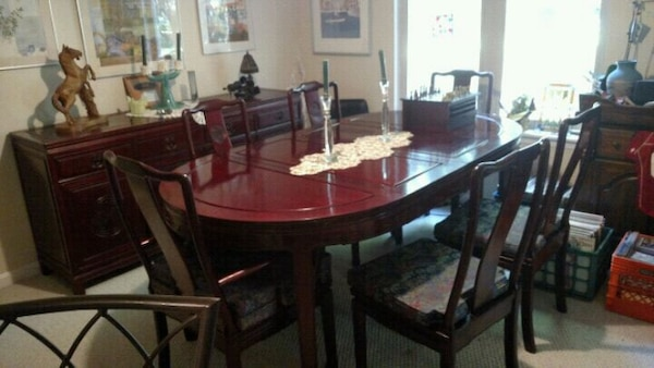 Original Chinese Rosewood Dining Room Set