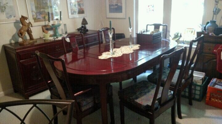 Superieur Original Chinese Rosewood Dining Room Set